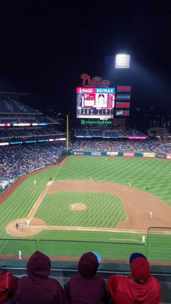 Citizens Bank Park, section: 416, row: 4, seat: 2