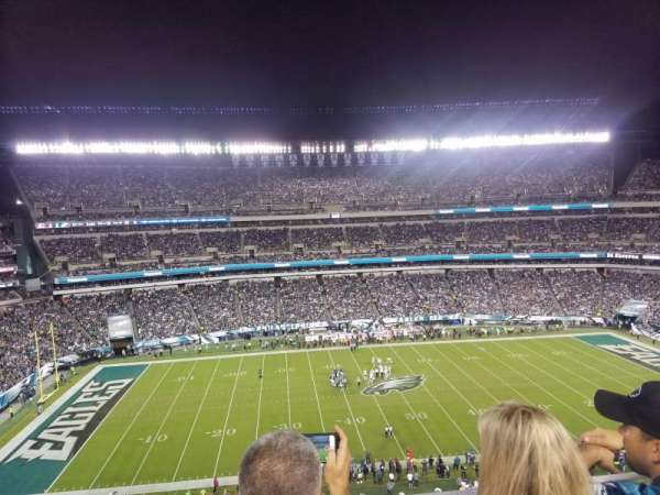 Lincoln Financial Field , section: 244, row: 3