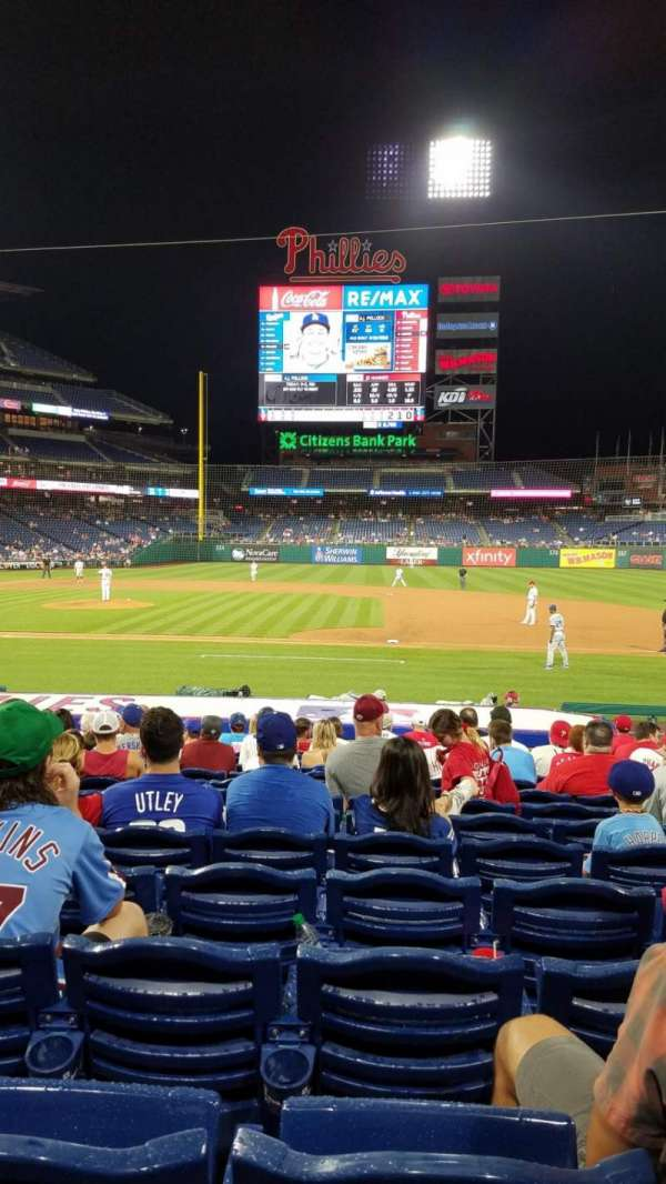 Citizens Bank Park, section: 116, row: 18, seat: 8