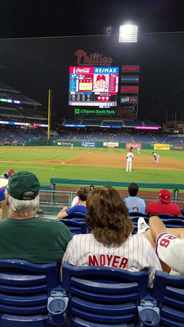 Citizens Bank Park, section: 116, row: 6, seat: 18