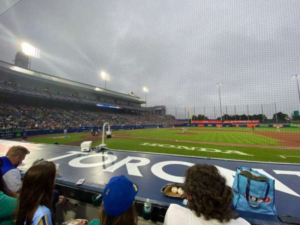 Sahlen Field, section: 112, row: D, seat: 3