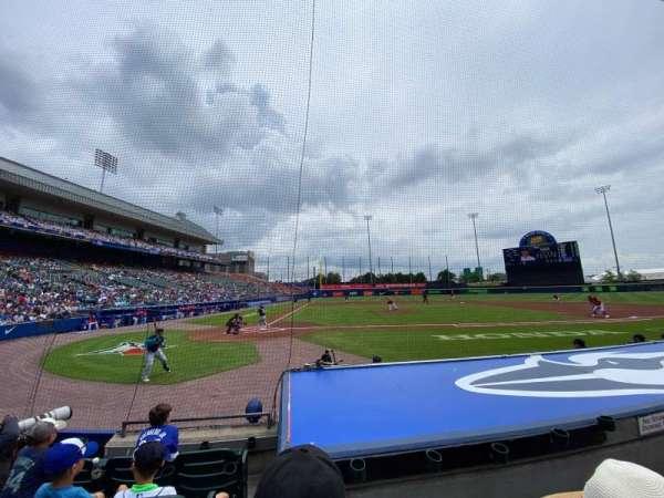 Sahlen Field, section: 110, row: E, seat: 5