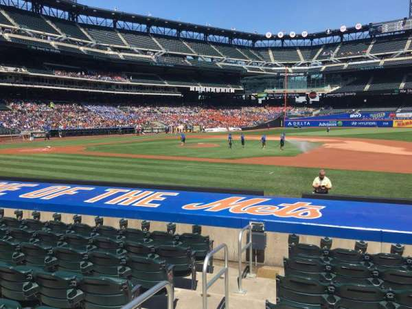 Citi Field, section: 112, row: 8, seat: 1