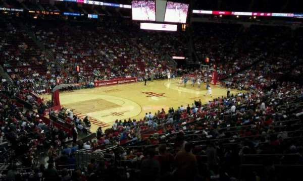 Toyota Center, section: 122, row: WC-25, seat: 9