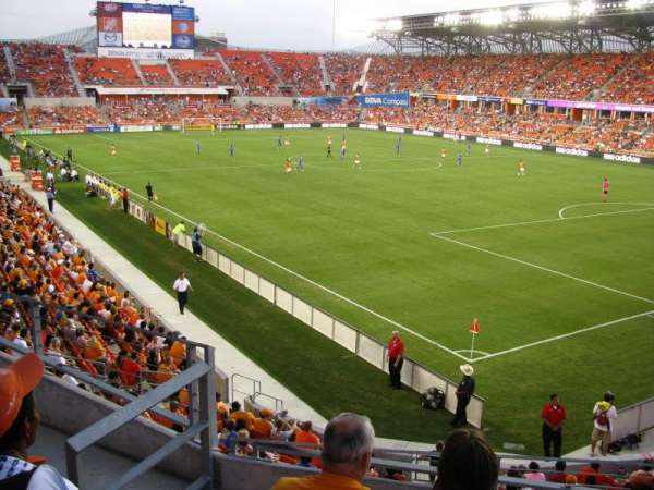 BBVA Stadium, section: 201, row: B, seat: 4