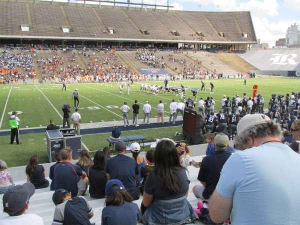 Rice Stadium, section: 106, row: 17, seat: 10
