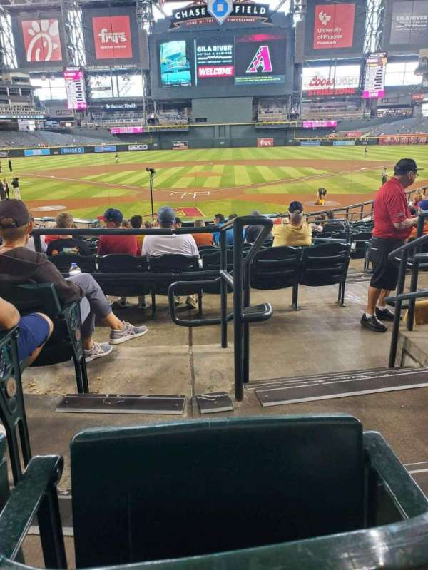 Chase Field, section: 122, row: 24, seat: 1