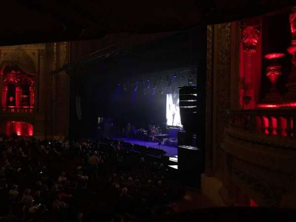 Chicago Theatre, section: Balcony Box 10, row: A, seat: 14