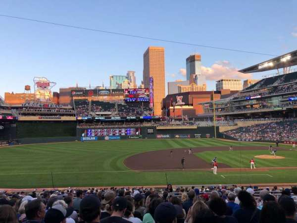 Target Field, section: 121, row: 12, seat: 6