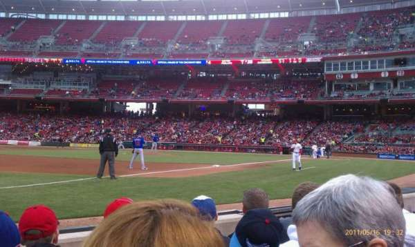 Great American Ball Park, section: 112, row: D, seat: 7