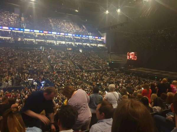 The O2 Arena, section: 110, row: W, seat: 317