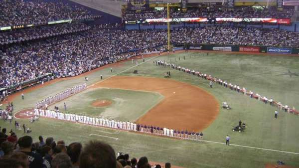Tropicana Field, section: 316, row: S, seat: 23