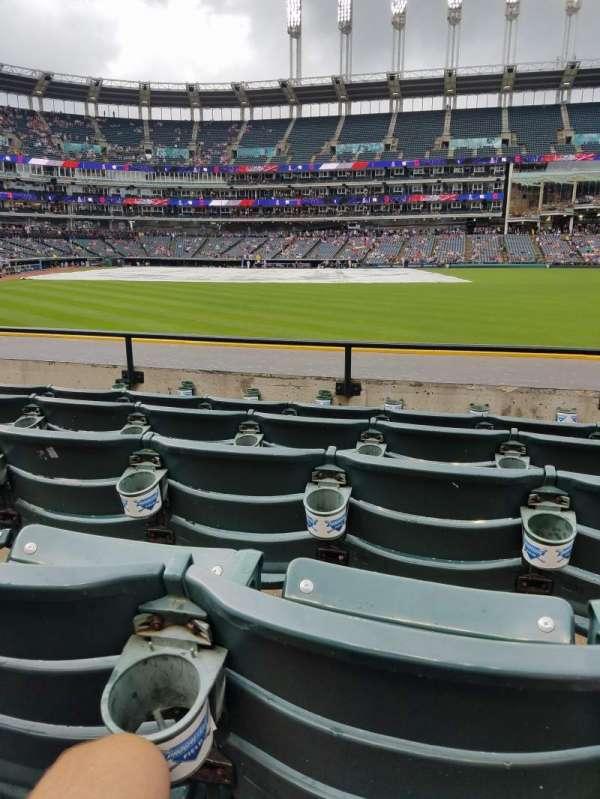 Progressive Field, section: 109, row: E, seat: 19