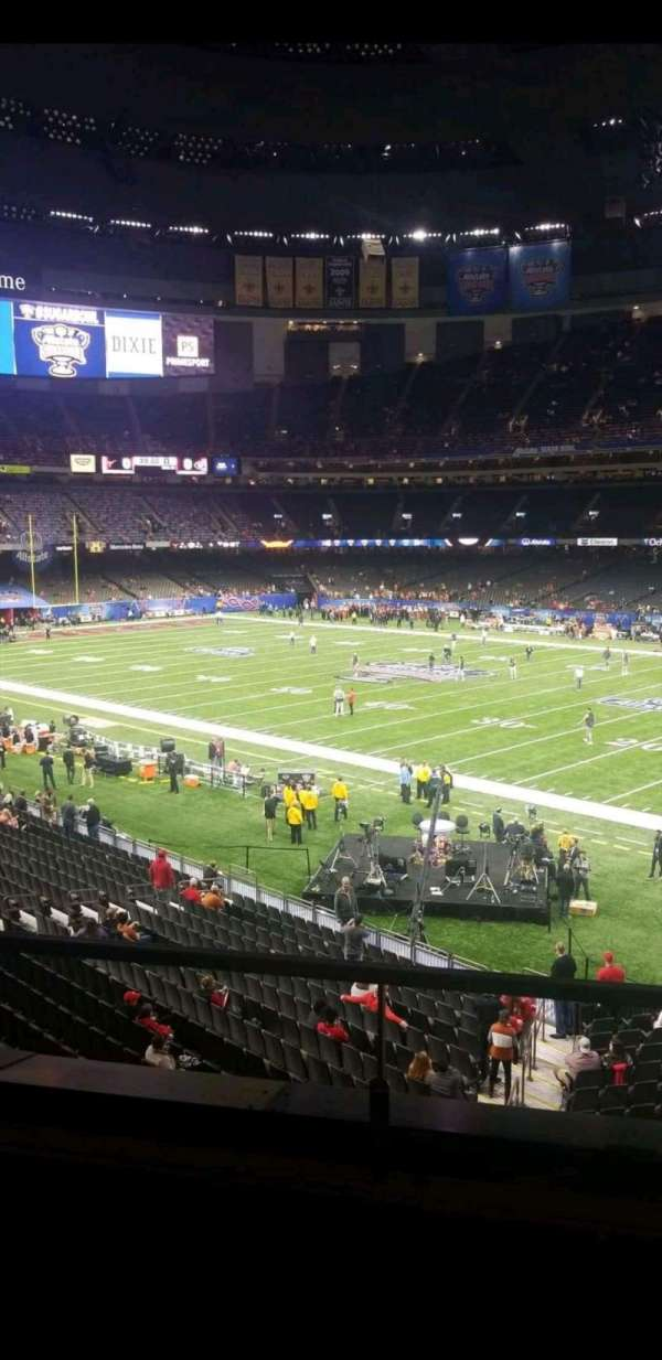 Mercedes-Benz Superdome, section: 254, row: 3, seat: 5