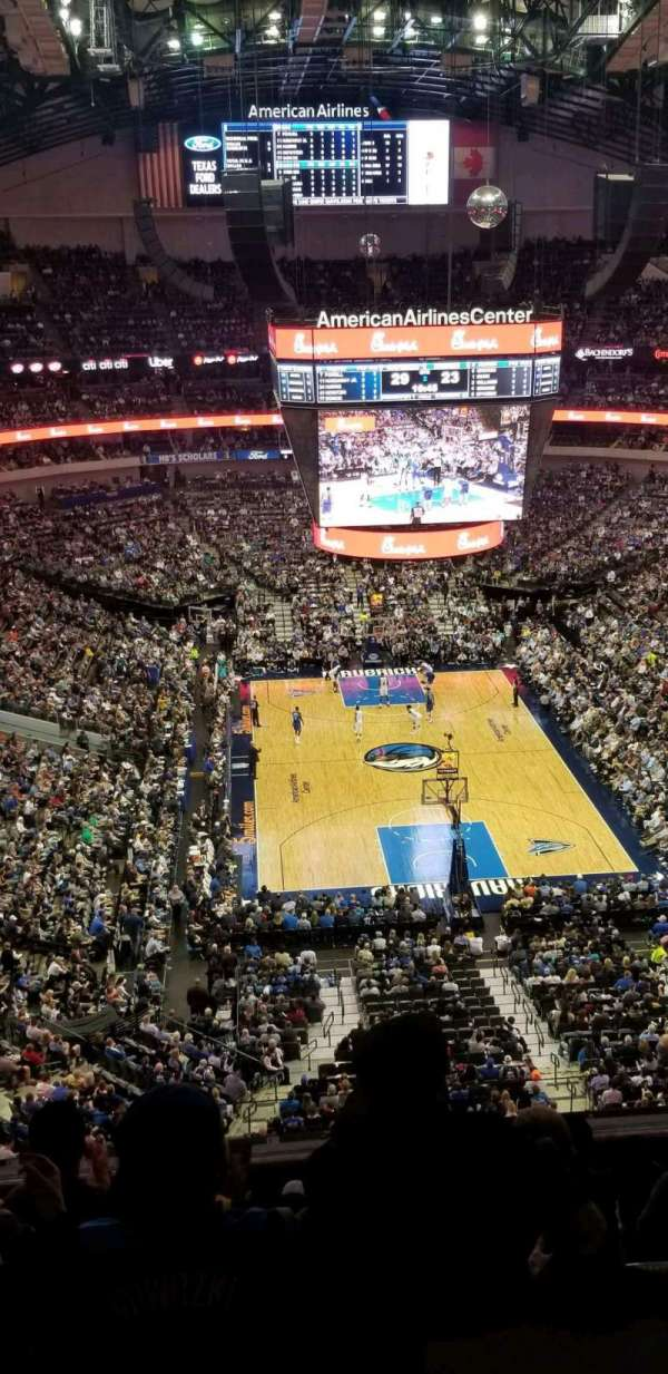 American Airlines Center Section 319 Row G Seat 4 Dallas Mavericks
