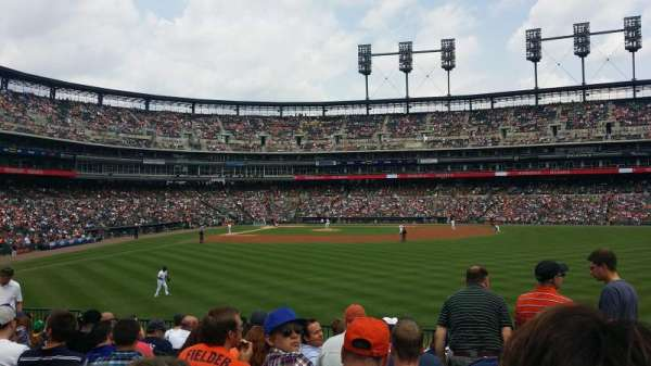 Comerica Park, section: 104, row: p