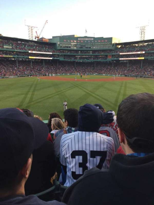 Fenway park, section: Bleacher 34, row: 6, seat: 12