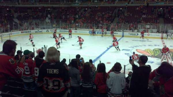 United Center, section: 101, row: 13, seat: 1