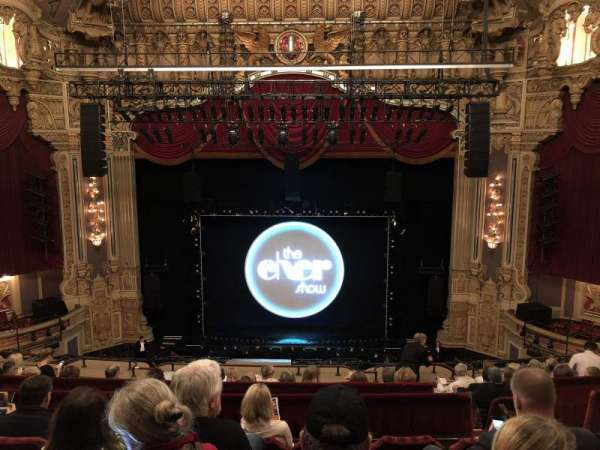 Oriental Theatre, section: Balcony C, row: J, seat: 307