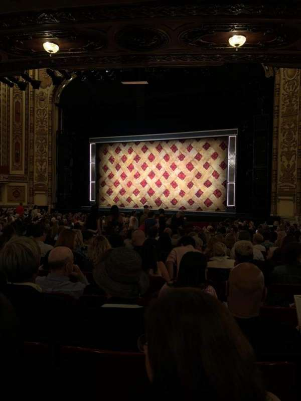 Cadillac Palace Theater, section: Orchestra R, row: V, seat: 14