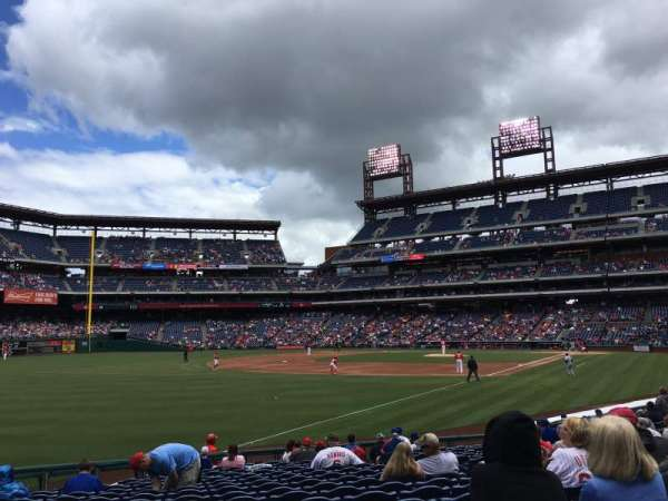 Citizens Bank Park, section: 134, row: 18, seat: 5