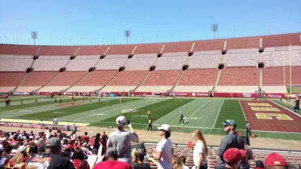 Los Angeles Memorial Coliseum, section: 4H, row: 23, seat: 113