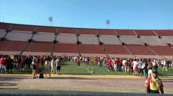 Los Angeles Memorial Coliseum, section: 107A, row: 1, seat: 1