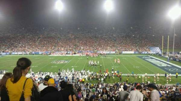 Los Angeles Memorial Coliseum, section: 6H, row: 44, seat: 101