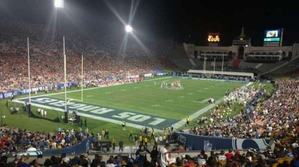 Los Angeles Memorial Coliseum, section: 212, row: 1, seat: 1
