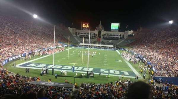 Los Angeles Memorial Coliseum, section: 213, row: 1, seat: 35