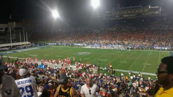 Los Angeles Memorial Coliseum, section: 20H, row: 45, seat: 101