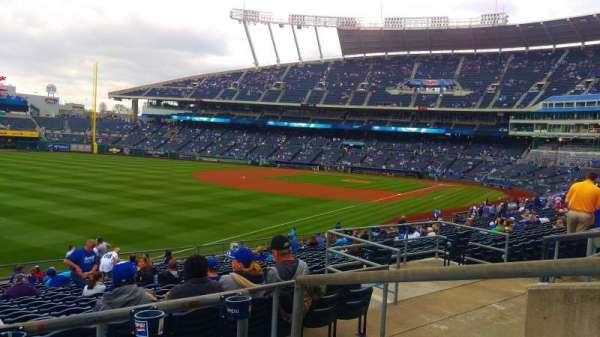 Kauffman Stadium, section: 210, row: CC, seat: 4