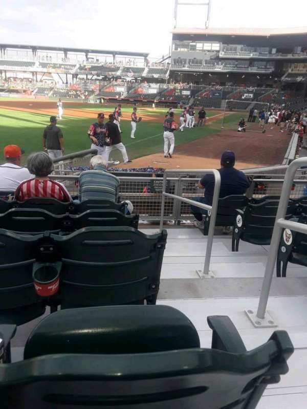 Southwest University Park, section: 123, row: J, seat: 1