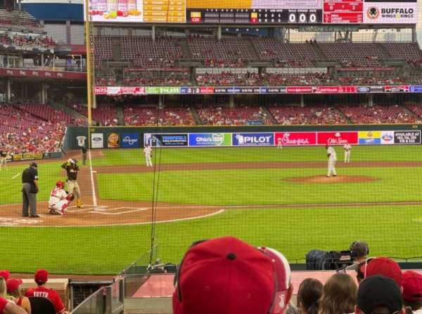 Great American Ball Park, section: 127, row: O, seat: 12
