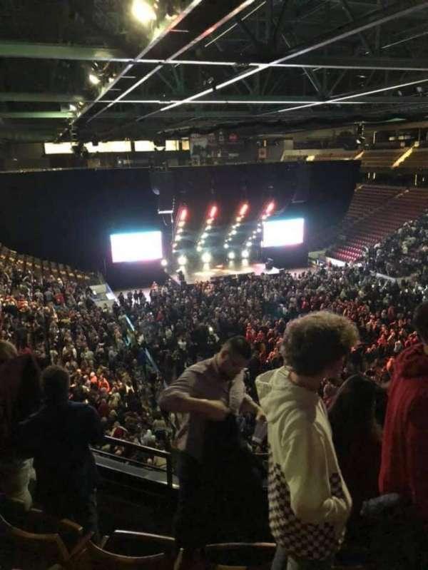 Maverik Center, section: 218, row: 4, seat: 7