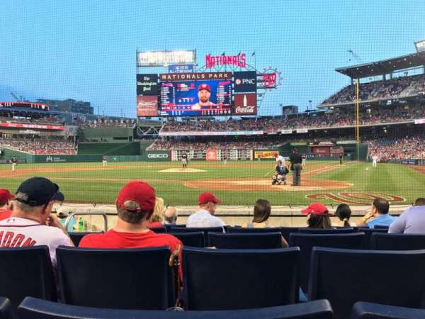 Nationals Park, section: Presidents Club B, row: F, seat: 8