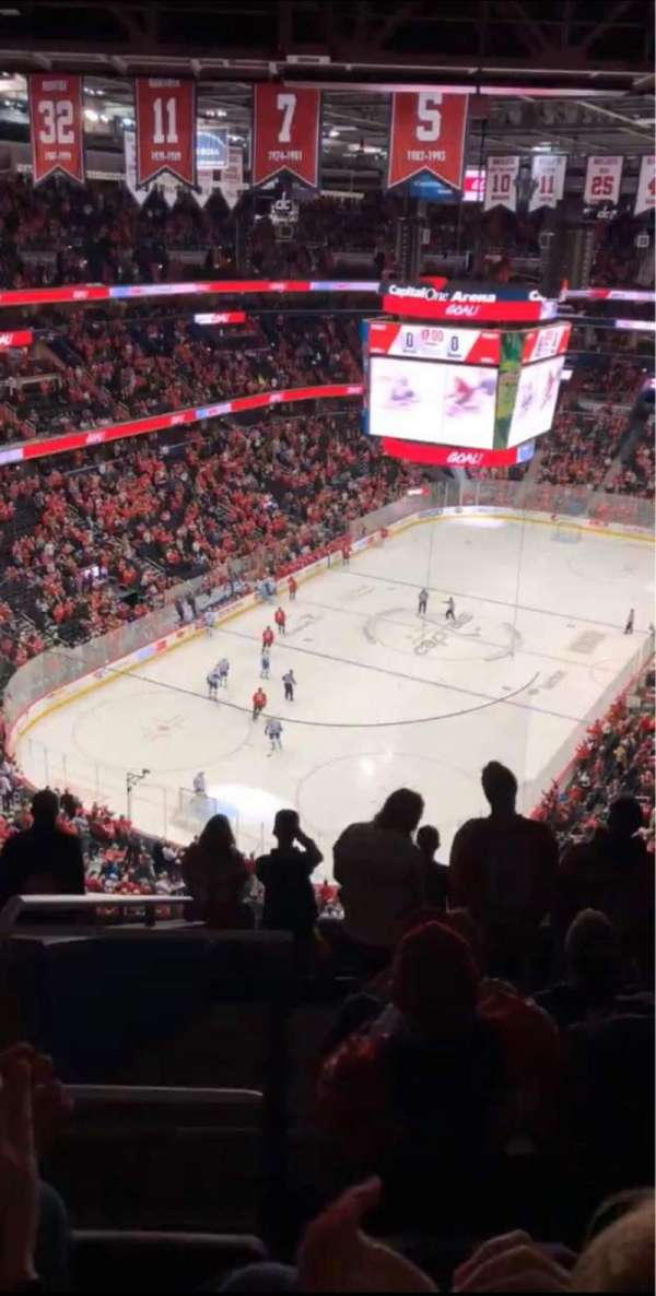 Capital One Arena, section: 411, row: K, seat: 3