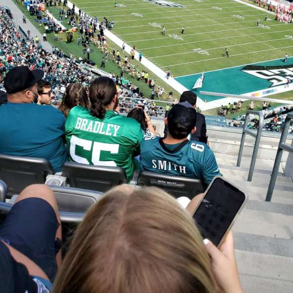 Lincoln Financial Field, section: M7, row: 19, seat: 1