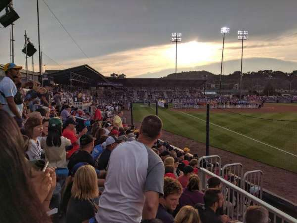 BB&T Ballpark at Historic Bowman Field, section: 1, row: 2, seat: 1
