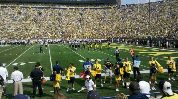 Michigan Stadium, section: 21, row: 3, seat: 22