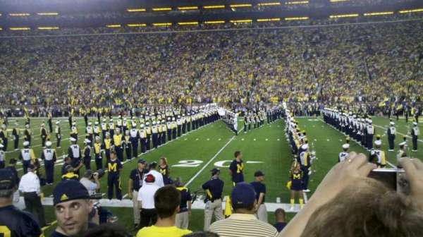 Michigan Stadium, section: 21, row: 3, seat: 25