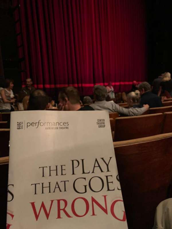 Ahmanson Theatre, section: Orchestra left, row: G, seat: 39