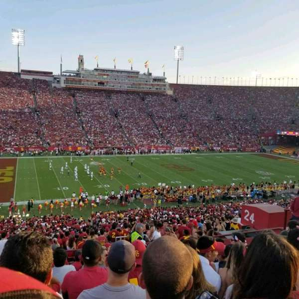 Los Angeles Memorial Coliseum, section: 24L, row: 57, seat: 11