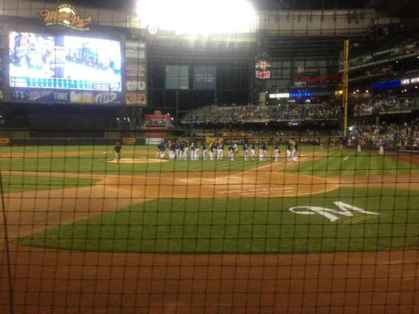 Miller Park, section: 119, row: 2, seat: 1