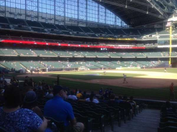 Miller Park, section: 110, row: 17, seat: 1