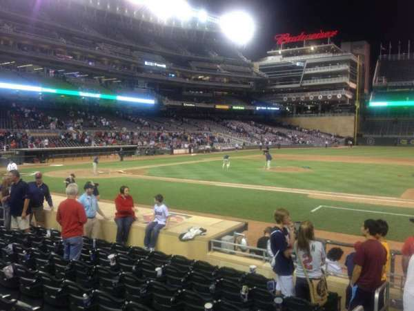Target Field, section: 3, row: 12, seat: 16