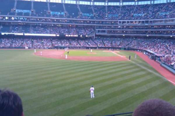 Progressive Field, section: 180, row: H, seat: 22