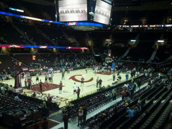 Quicken Loans Arena, section: 104, row: 15, seat: 7