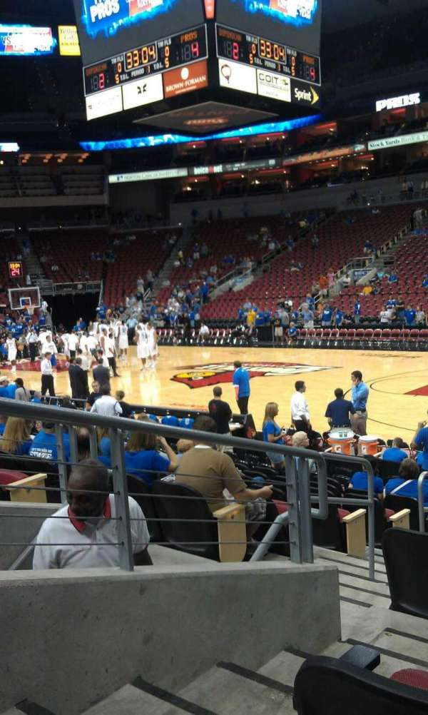 KFC Yum! Center, section: 114, row: N, seat: 9