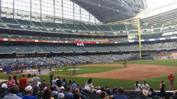 Miller Park  , section: 111, row: 15, seat: 17